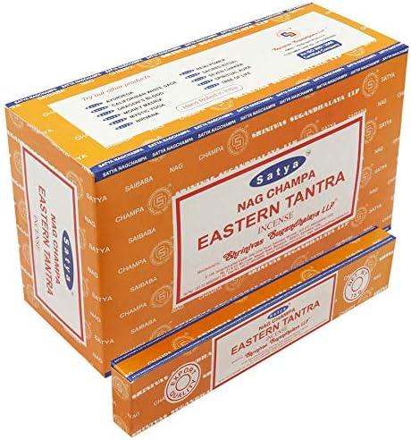 Varillas de incienso Satya Nag Champa, muchos aromas, 12 unidades de 15 g, EASTERN TANTRA: Amazon.es: Hogar