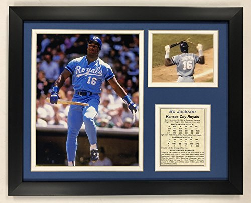 - Legends Never Die Bo Jackson - Kansas City Royals - Bat Breaker - Framed 12