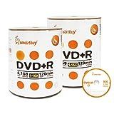 Smart Buy 200 Pack DVD+R 4.7gb 16x Logo Blank Data Video Movie Recordable Disc, 200 Disc 200pk
