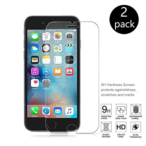 iPhone 6 Plus Screen Protector, SDFLAYER 2-Pack iPhone 6 Plus Screen Protector HD Clear Retail Crystal Packaging for Apple iPhone 6s Plus and iPhone 6 Plus 5.5 Inch (HD Clear)