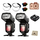 Godox Thinklite TTL HSS TT685S Camera Flash High Speed 1/8000s GN60 for Sony DSLR Cameras a77II a7RII a7R a58 a99 ILCE6000L, with X1T-S TTL Transmitter (Pack of 2)