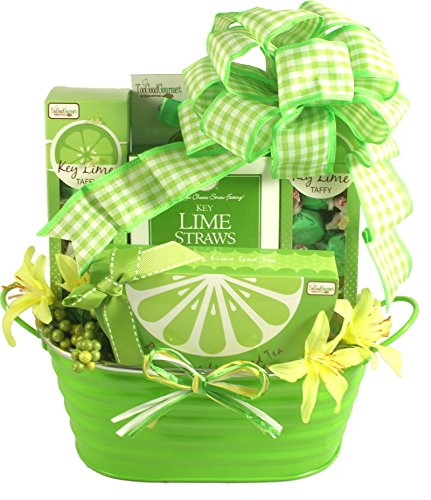 Tropical Treats Holiday Gift Basket (Kickin' Key Lime)