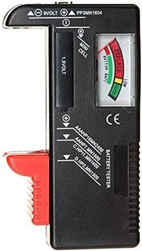Leoie Universal AA AAA C D 9V Button Coin Battery Tester Checker