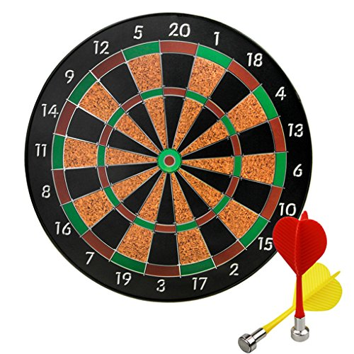 Games Play Dartboard - Magnetic Dartboard Set with 6 Darts, 12
