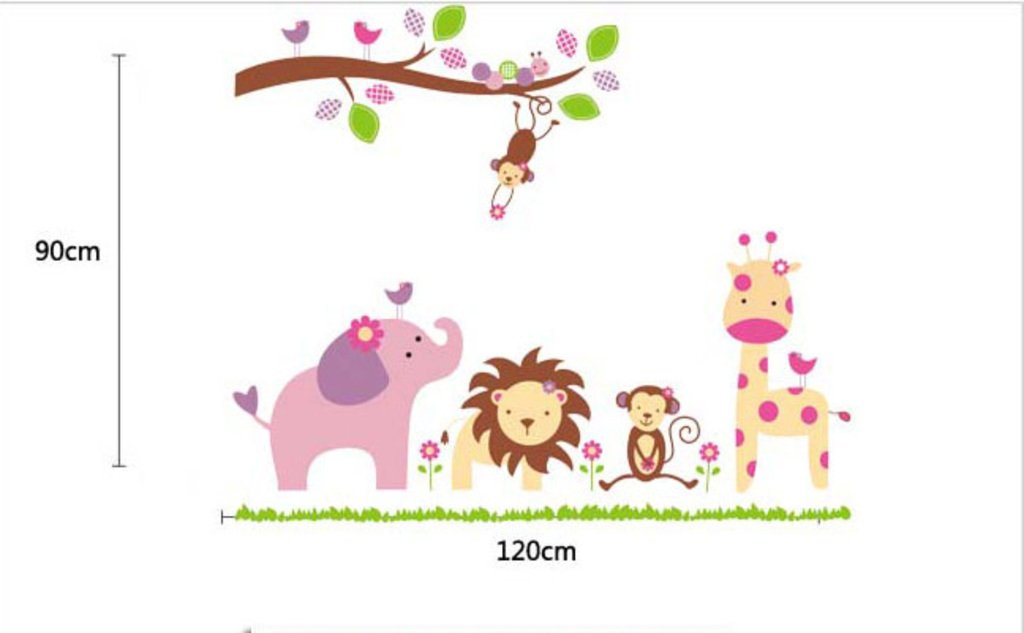Buy decals design baby cartoon animal kingdom kids wall sticker buy decals design baby cartoon animal kingdom kids wall sticker pvc vinyl 50 cm x 70 cm online at low prices in india amazon voltagebd Image collections