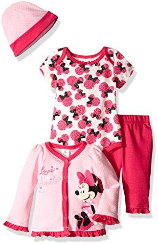 Disney 4 Piece Minnie Cardigan Bodysuit