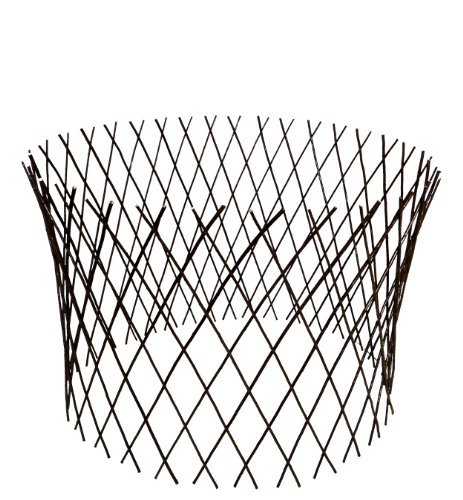 Master Garden Products Circular Willow Lattice Fence, 30 by 60-Inch -