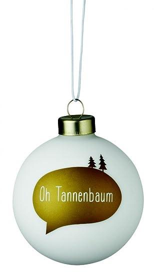 Kugel Für Tannenbaum.Räder Weihnachtszauber Weiße Kugel Oh Tannenbaum Weiß Gold D
