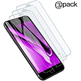 Screen Protector Compatible for iPhone 8/7/ 6s/ 6, 3-Pack,9H Hardness,0.3mm Tempered Glass Film, 4.7-Inch … (iPhone 8/7/6s/6)