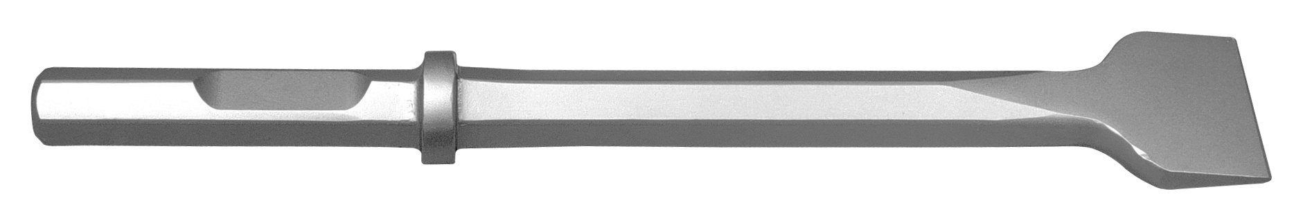Champion Chisel, 1-1/8 by 6-Inch Hex Shank with Notch, 14-Inch Long by 3-Inch Wide Chisel - Designed for 60lb & 90lb Pneumatic Hammers