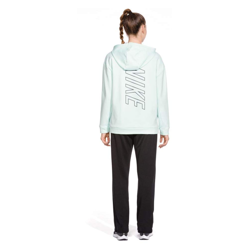 Nike Women's Therma Swoosh Fleece Training Hoodie Igloo/Heather/Obsidian Size Medium