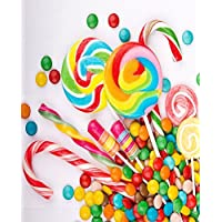 5x7FT Colorful Sweet Candys Photography Backdrop Customized CP Photo Background Studio Prop RM-033
