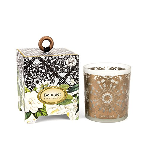 - Michel Design Works Gift Boxed Soy Wax Candle, 6.5-Ounce, Bouquet