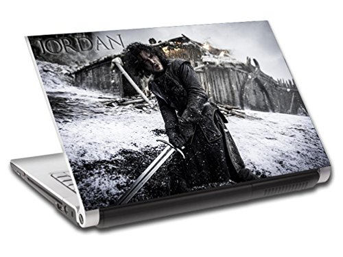 John Snow Game Of Thrones Personalized LAPTOP Skin Vinyl Decal Sticker NAME L323, 15.6'' by Dizzy