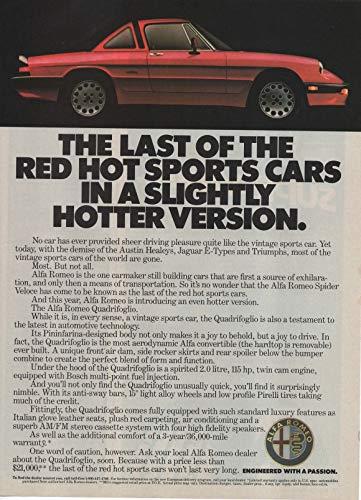 Used, Magazine Print Ad: 1986 Alfa Romeo Quadrifoglio Sport for sale  Delivered anywhere in USA