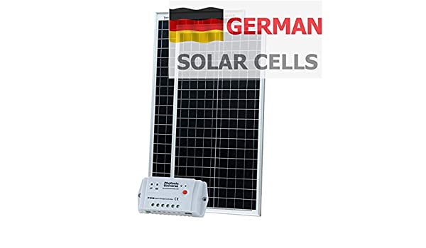 80 W (40 W + 40 W) 12 V Photonic Universe kit de carga solar ...