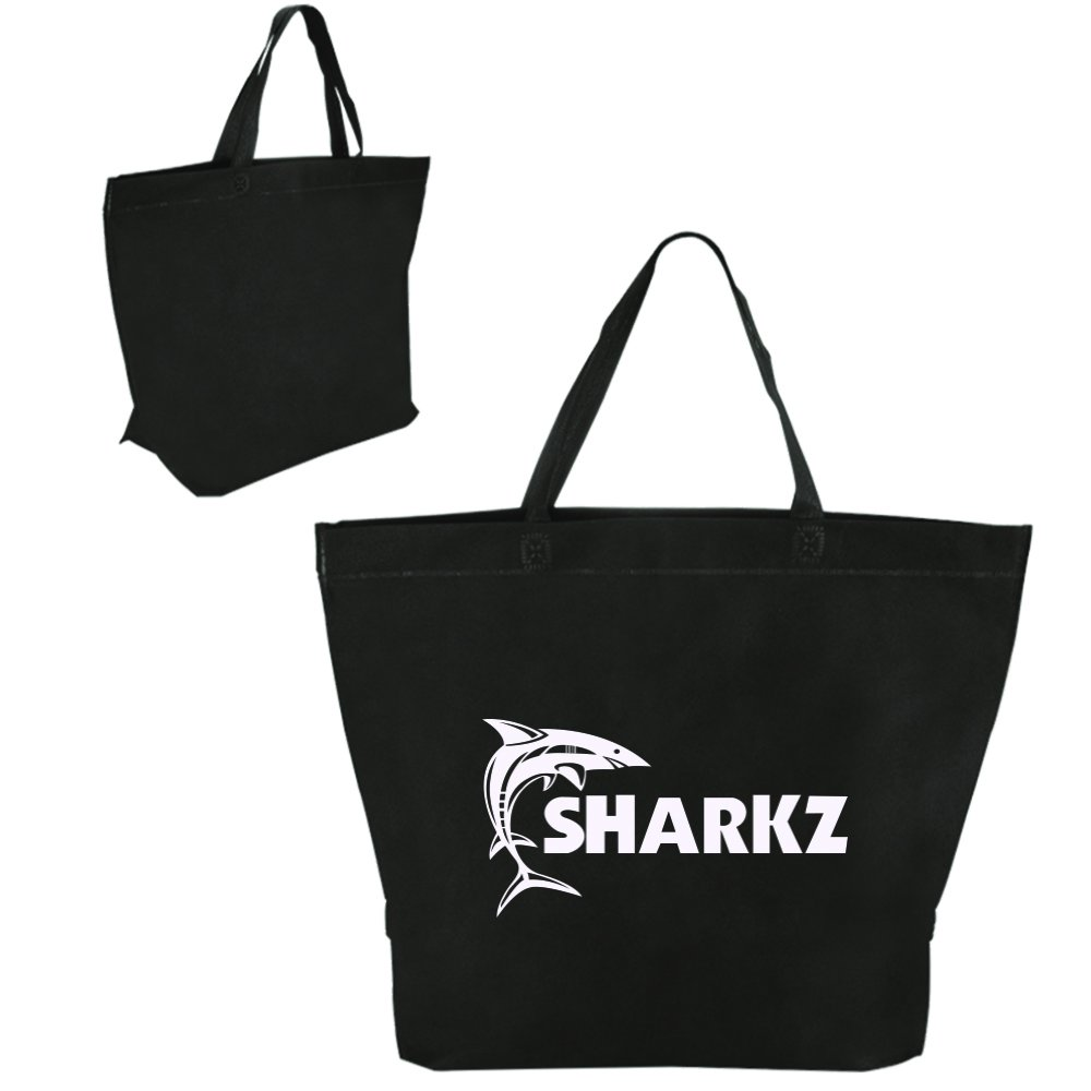 Two Tone Heat Sealed Shopper Tote - 150 Quantity - $1.85 Each - PROMOTIONAL PRODUCT / BULK / BRANDED with YOUR LOGO / CUSTOMIZED by Sunrise Identity (Image #2)