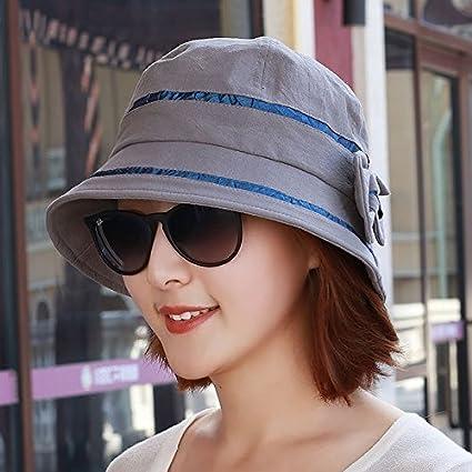 YXLMZ Señoras Mujeres Pescador Moda Sombreros Sombrero Cuenca Ocio Tapa  Tapa Domo Moda Primavera Verano 54cm 12be7b4aa49