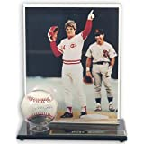 Acrylic Single Baseball Display Case with Photo Holder by Mounted Memories