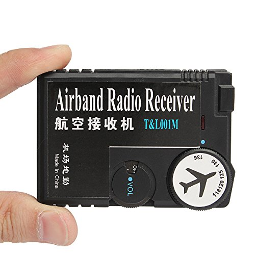 HITSAN 118MHz-136MHz Air Band Radio Receiver Aviation Receiver for Airport Ground One Piece Aviation Band