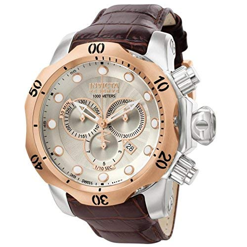 (Invicta Men's 0359 Reserve Collection Venom Chronograph Brown Leather Watch)