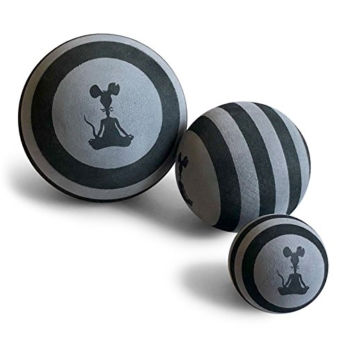 YogaRat Massage Ball Set - 3 Pack - Large 5 Ball - Medium 3.5 Ball - Small 2.4 Ball - for All Muscle Groups - Deep Tissue Muscle Recovery - Myofascial Release - Trigger Point Therapy