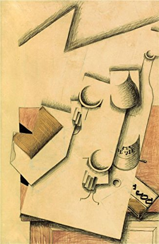 Oil Painting 'Juan Gris,Book,Glass And Bottle On A Table,1913' 18 x 28 inch / 46 x 70 cm , on High Definition HD canvas prints is for Gifts And Home - Roots Sunglasses Canada