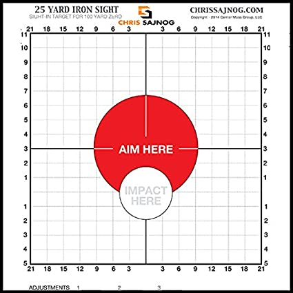 picture regarding Ar15 25 Yard Zero Target Printable called Chrs Sajnog 25 Back garden Sight-within just Goals for a 100-Back garden Zero - Employ with Iron Points of interest