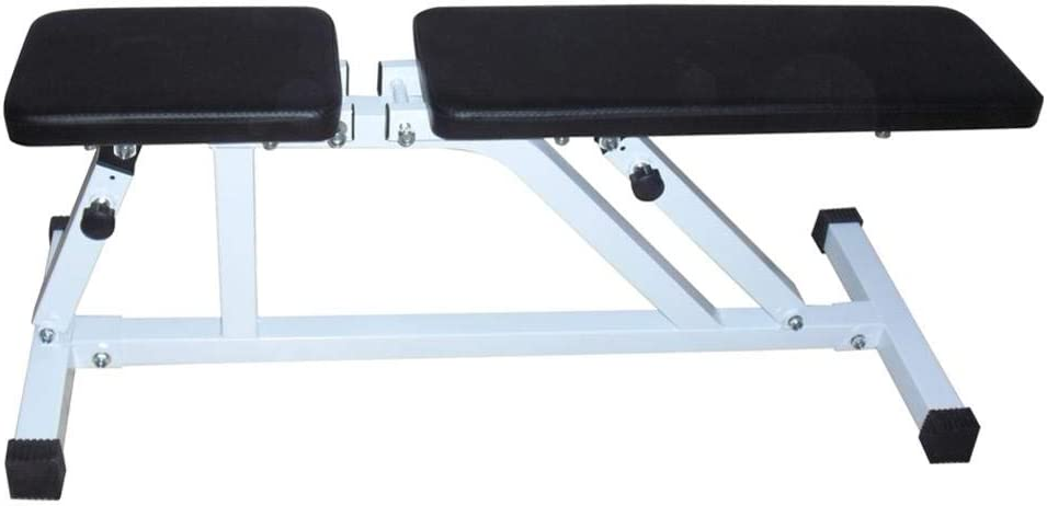 Rainrain27 Household Fitness Bench Utility Bench sit Up Bench Adjustable Workout Foldable Fitness Equipment for Home Gym
