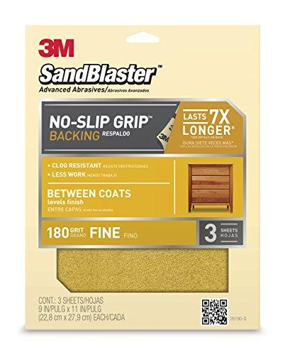 Paper Coat (3M SandBlaster 20180 Between Coats Sandpaper 9-Inch by 11-Inch, 180-Grit)