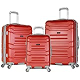 Olympia Denmark 3 Piece Luggage Set, Wine