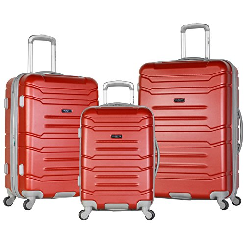 Olympia USA Olympia 3 Piece Luggage Set, Wine