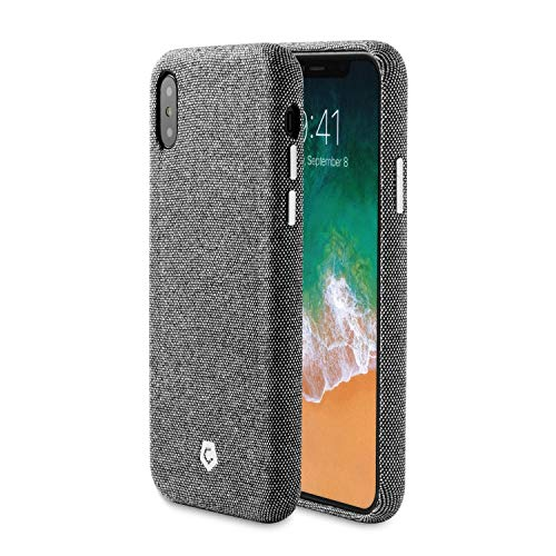 - Compatible with iPhone X/XS Case, Cobble Pro Premium Handcrafted Soft Touch Fabric Back Case Cover Slim Fit Protective Phone Case [Support Wireless Charging] Compatible with Apple iPhone Xs/X, Gray