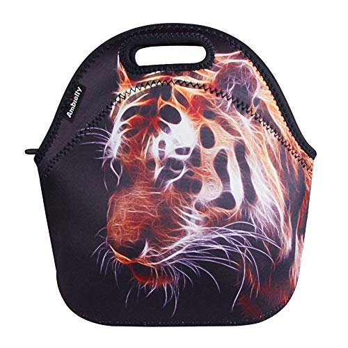 Ambielly Neoprene Lunch Bag/Lunch Box/Lunch Tote/Picnic Bags Insulated Cooler Travel Organizer (Tiger)