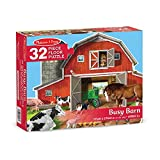 Melissa & Doug Busy Barn Shaped Floor Puzzle