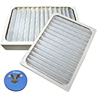 HQRP 2-pack Air Cleaner Filter for Hunter HEPAtech 30097, 30180, 30183, 30932 Air Purifiers + HQRP Coaster
