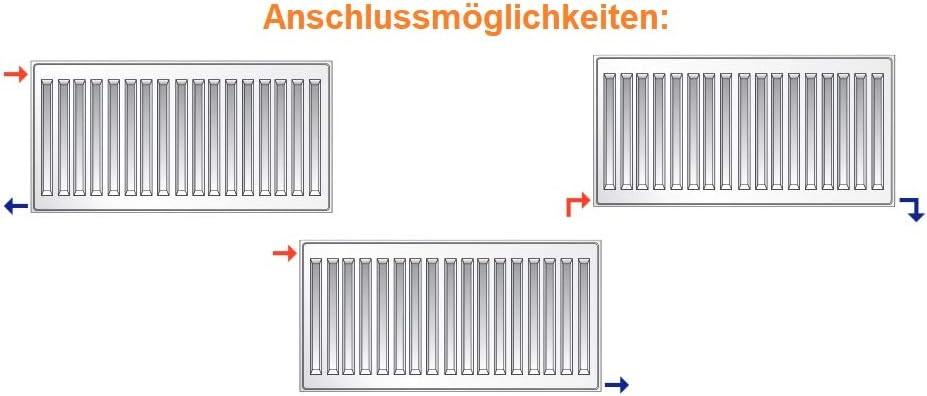PURMO KOMPAKT HEIZK/ÖRPER Typ 22 H 60 CM BL 40-180cm inkl BL 60 cm Halterung zweilagig Profil