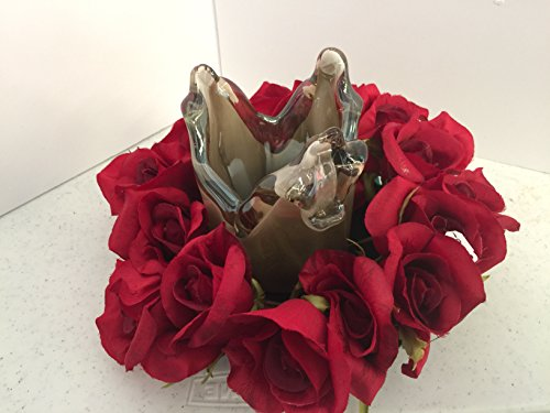 ement- Murano Glass - Red Roses ()