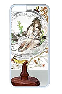 Anime Girl Glass Bottle Cute Hard Cover For iPhone 6 Plus Case ( 5.5 inch ) PC White Cases
