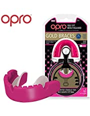 Opro Gold Level Mouthguard for Braces | Gum Shield for Rugby, Hockey and other Contact Sports