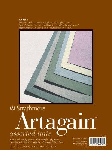 Strathmore 400-Blocco artagain ® pietra di luna, 25 x 19 cm Strathmore Artist Papers 446-5