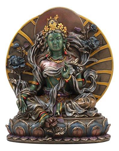 - Ebros Arya White Tara Seated On Lotus Throne Statue 6.5