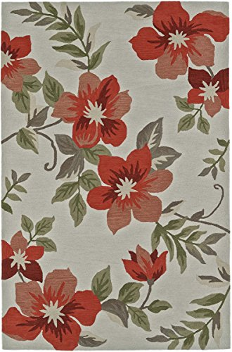 (Dalyn Maui Area Rug MM6 Mm6 Ivory/Salmon Ivory/Salmon Lily Petals 8' x 10' Rectangle)