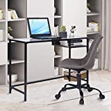 Aingoo Computer Desk Study Writing Table Metal Frame for Student (Black)