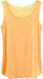 Vests Home Camiseta sin Mangas con Cuello Redondo Unisex con Tirantes sólidos y Camiseta sin Mangas (Color : Black, Size : Large)