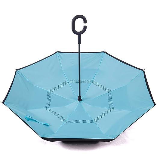 Paraguas invertido de la capa para las mujeres Revertir el ...