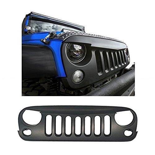 Auxmart ABS Matte Black JK Jeep Wrangler Front Grille