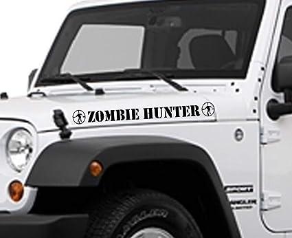 Amazon Com Zombie Hunter Jeep Vinyl Decal Buy 2 Set Get 3rd Free