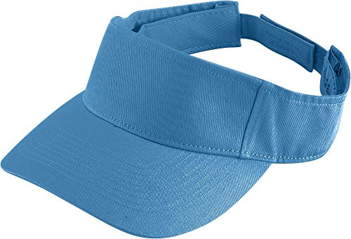 Augusta Sportswear Adult Sport Twill Visor OS Columbia Blue