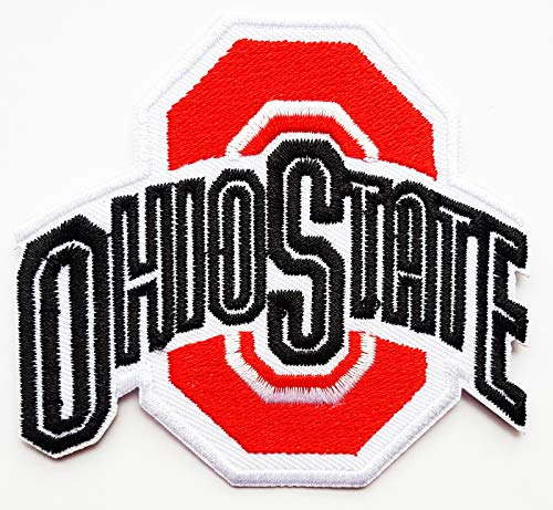 Ohio State Football Logo Sign Patch Iron on Applique Embroidered Sew On Patch Jacket T Shirt Patch Sew Iron on Embroidered Symbol Badge Cloth Sign Costume